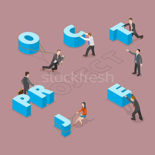 Stock photo: Project flat isometric vector concept.