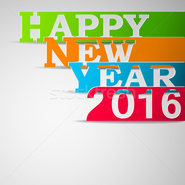Paper strips with HAPPY NEW YEAR 2016 text Stock photo © TarikVision