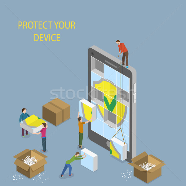 Mobile Device Protection Concept Illustration. Stock photo © TarikVision