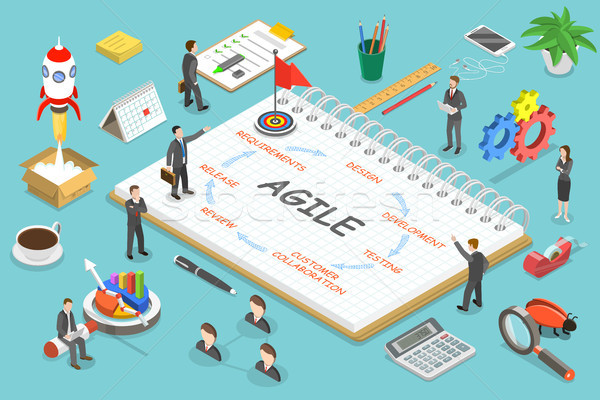 Agile methodology flat isometric vector concept. Stock photo © TarikVision
