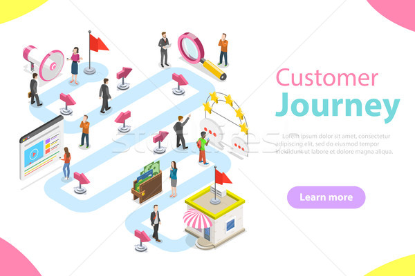 Customer journey flat isometric vector. Stock photo © TarikVision
