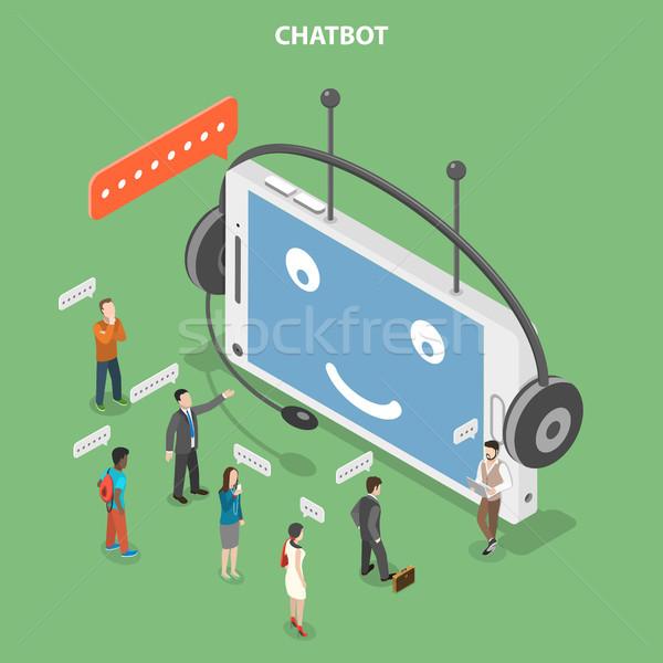 Isométrica vetor como robô Foto stock © TarikVision