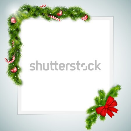 Blank Sheet of Paper With Christmas Attributes. Stock photo © TarikVision