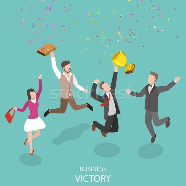 Negocios victoria vector personas ganador Foto stock © TarikVision