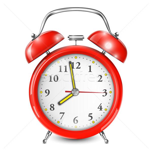 Red Alarm Clock Isolated On White. Stock photo © TarikVision