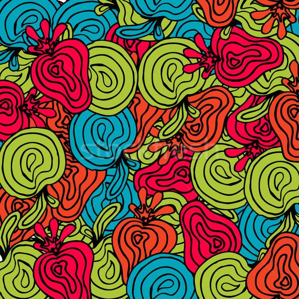 Bright abstract fruits pattern Stock photo © TarikVision