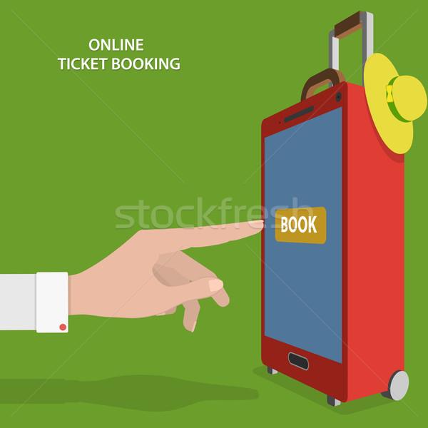 Online Ticket Booking Flat Vector Concept. Stock photo © TarikVision