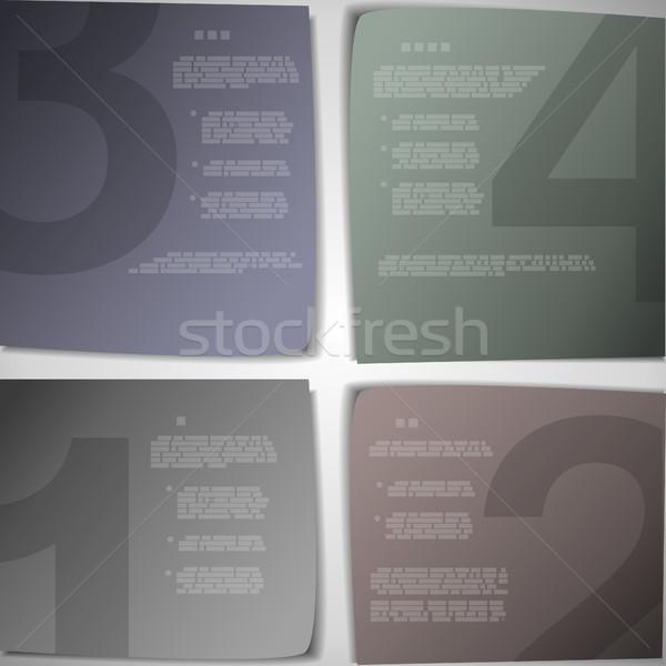 Papír oldalak haladás bemutató eps10 vektor Stock fotó © TarikVision