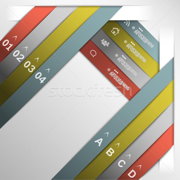 Ribbon option template eps10 Stock photo © TarikVision