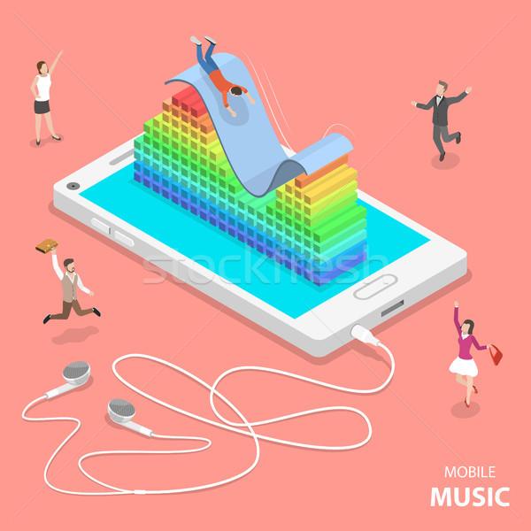 携帯 音楽 アイソメトリック ベクトル 3D オーディオ ストックフォト © TarikVision