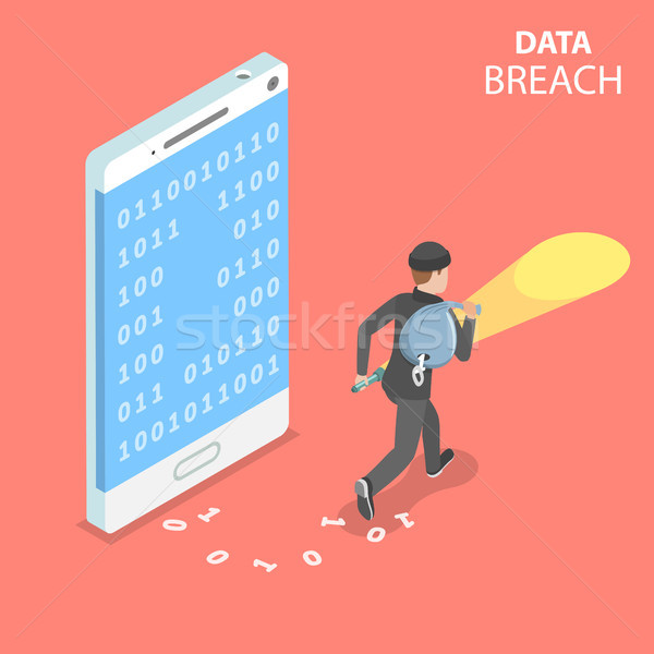 Data breach flat isometric vector concept. Stock photo © TarikVision