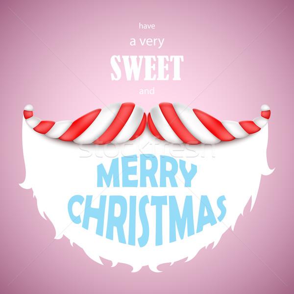甘い 陽気な クリスマス サンタクロース 口ひげ キャンディ ストックフォト © TarikVision