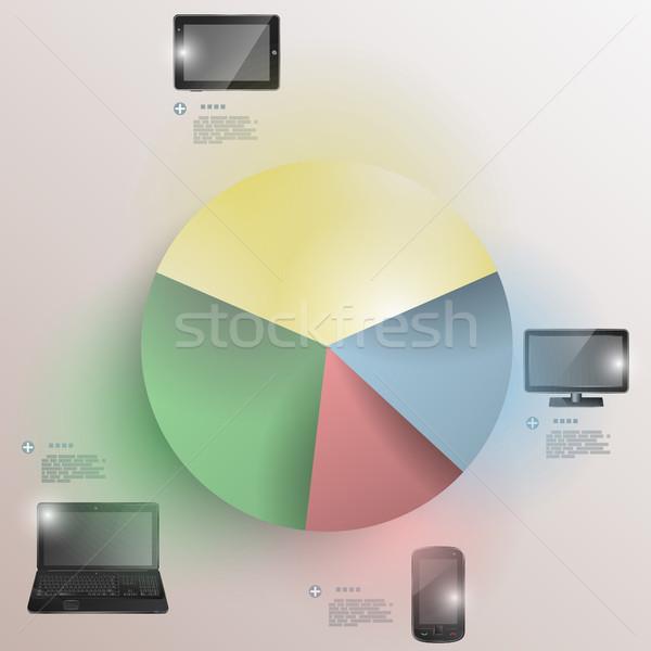 Stock fotó: Papír · diagram · elektronikus · eszközök · statisztika · bemutató