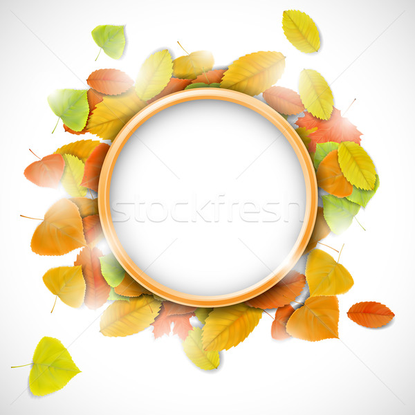 Place for text with autumn leaves Stock photo © TarikVision