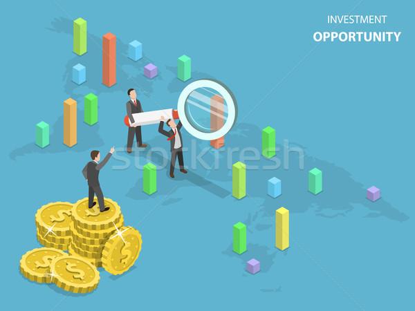 Investment opportunity flat isometric vector. Stock photo © TarikVision