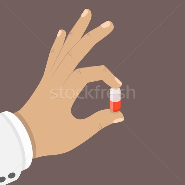 один таблетки стороны изометрический вектора врач Сток-фото © TarikVision