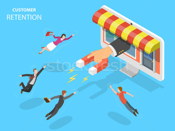 Online store customer retention vector illustration. Stock photo © TarikVision