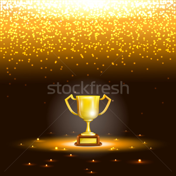 Winner Cup With Spark Rain. Stock photo © TarikVision