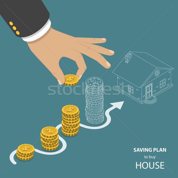 плана купить дома изометрический вектора Сток-фото © TarikVision