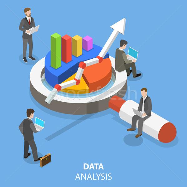 データ 分析 アイソメトリック ベクトル ビジネスチーム 情報 ストックフォト © TarikVision