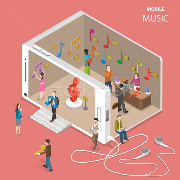 Móviles nube música servicio vector Foto stock © TarikVision