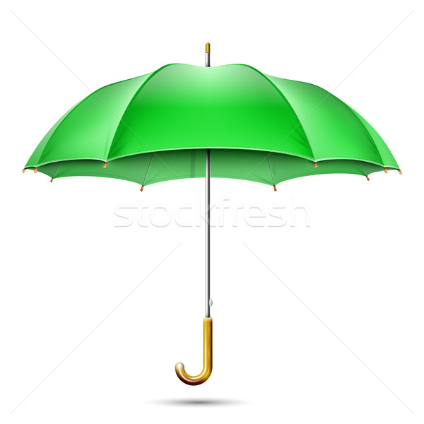 Stock photo: Realistic Detailed Green Umbrella