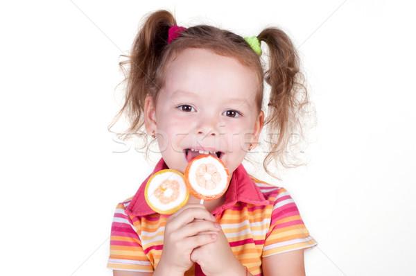 かわいい 楽しい 女の子 キャンディー 開く ストックフォト © TarikVision