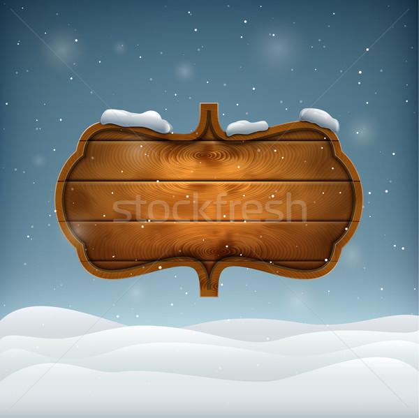 Winter avond gelukkig natuur landschap Stockfoto © TarikVision
