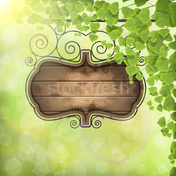 Vintage Signboard on Nature Background. Stock photo © TarikVision