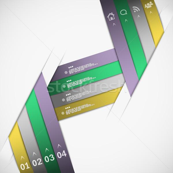 Paper ribbon template Stock photo © TarikVision