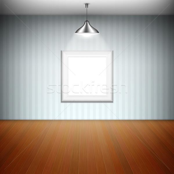 空っぽ 画像フレーム スポットライト 芸術 ルーム ストックフォト © TarikVision