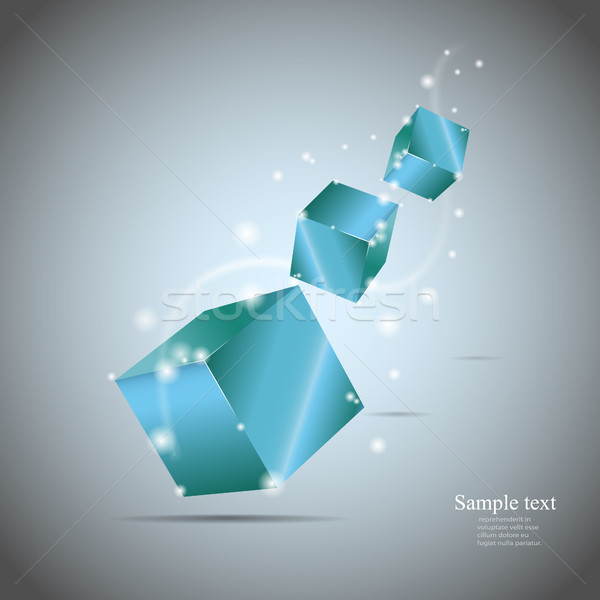 Abstract cubes with glow eps10 vector illustration Stock photo © TarikVision