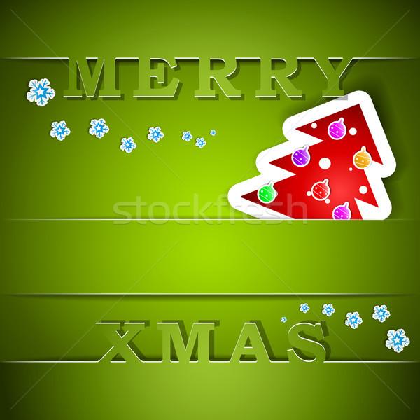 陽気な クリスマス 緑 カード ツリー eps10 ストックフォト © TarikVision