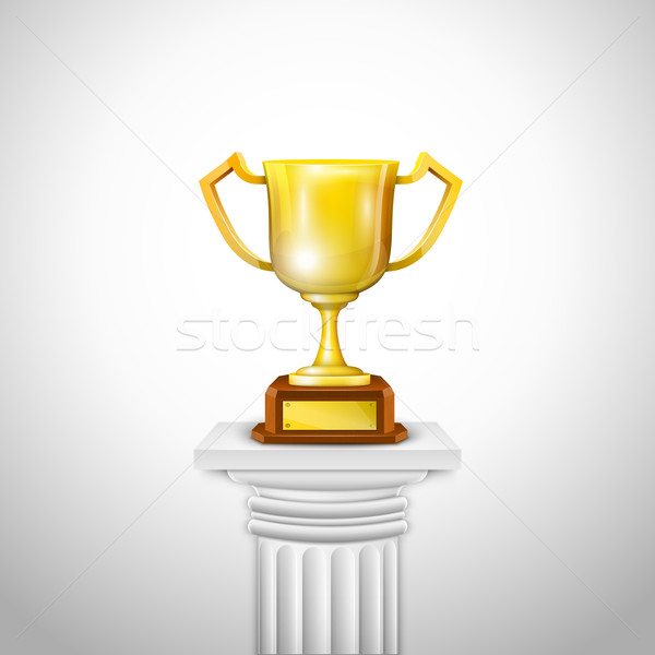 Ionic Column With Trophy Cup. Stock photo © TarikVision