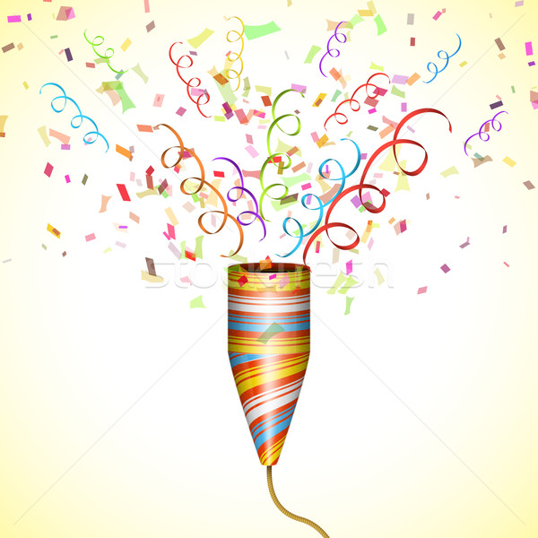 Exploding Party Popper With Confetti. Stock photo © TarikVision