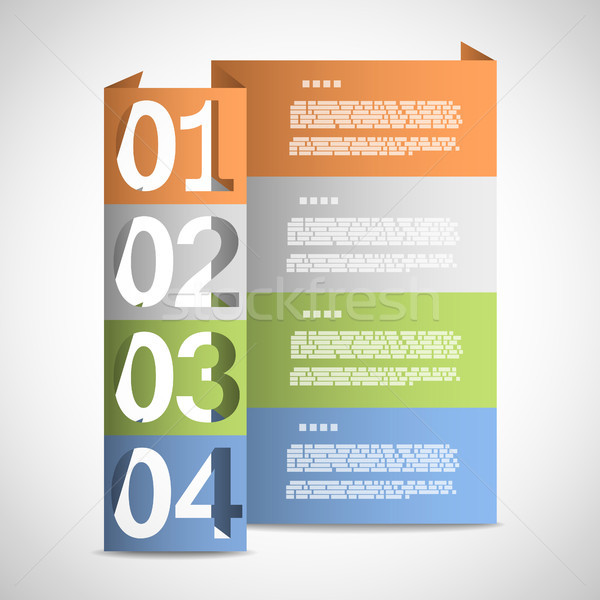 Paper options template Stock photo © TarikVision