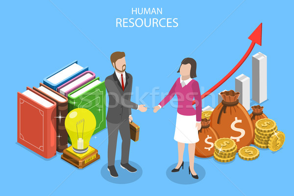 Human resources isometric flat vector conceptual illustration. Stock photo © TarikVision
