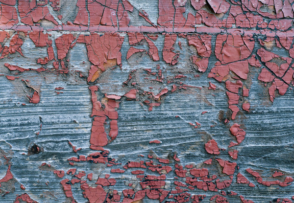 Stock photo: Old Shabby Wooden Planks with cracked color Paint
