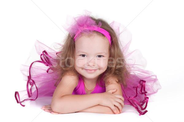 Divat kicsi hercegnő lány portré áldozat Stock fotó © TarikVision