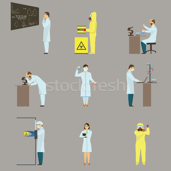 Set of Scientific Characters. Stock photo © TarikVision