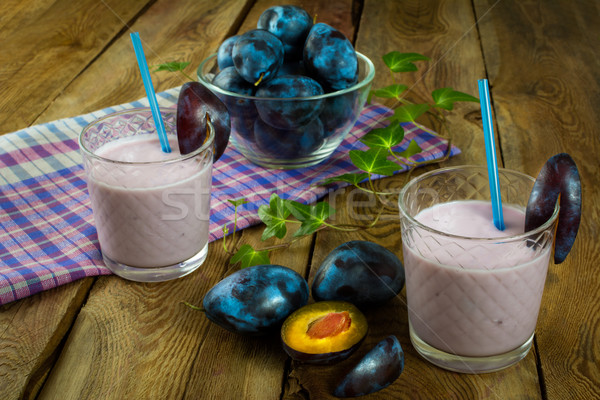 Fresh plum prune healthy drink Stock photo © TasiPas