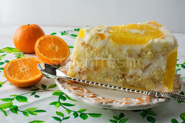 白 フルーツ オレンジ ケーキ ストックフォト © TasiPas