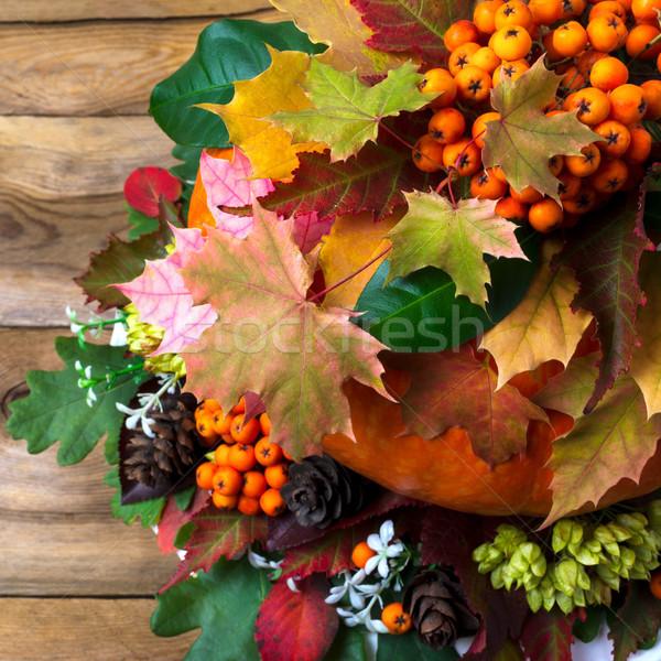 Cair decoração ação de graças colorido Foto stock © TasiPas