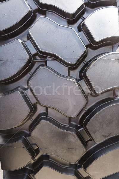 Truck tire texture, selective focus Stock photo © TasiPas