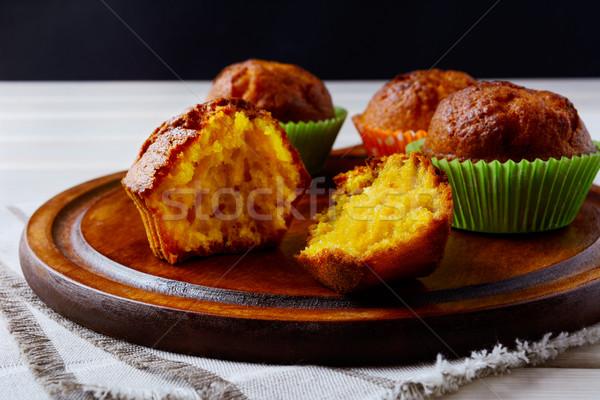 黄色 甘い カボチャ 乳房 務め 木製 ストックフォト © TasiPas