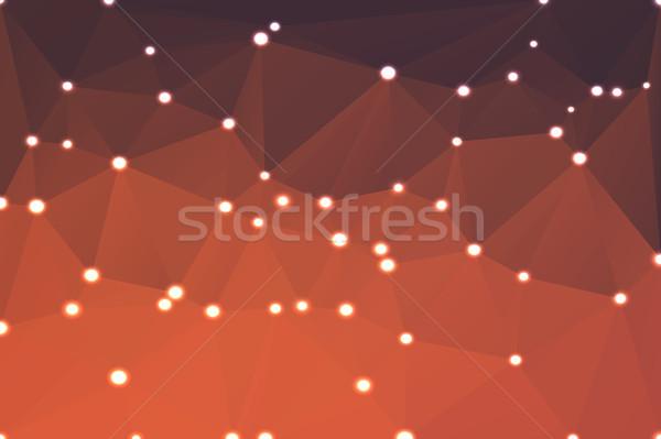 красный оранжевый Purple геометрический фары аннотация Сток-фото © TasiPas