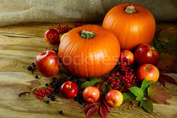 Cosecha calabazas bayas manzanas acción de gracias estacional Foto stock © TasiPas