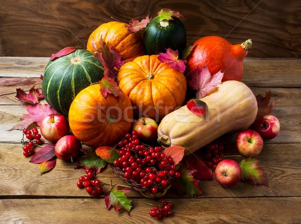 Obfity zbiorów jabłka jagody dziękczynienie Zdjęcia stock © TasiPas