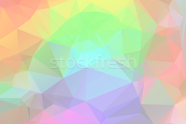 Rainbow low poly background Stock photo © TasiPas