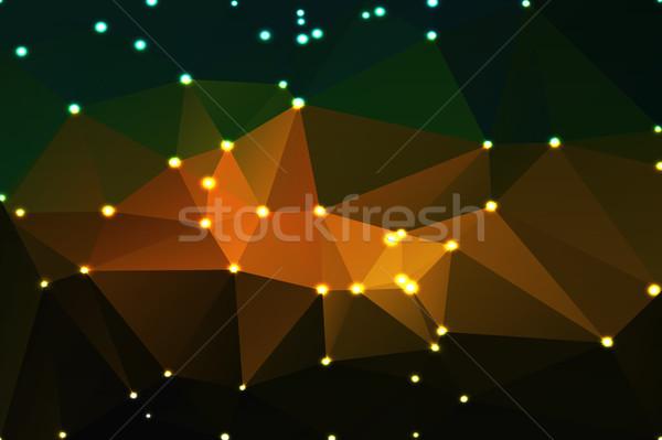 коричневый оранжевый зеленый геометрический фары аннотация Сток-фото © TasiPas